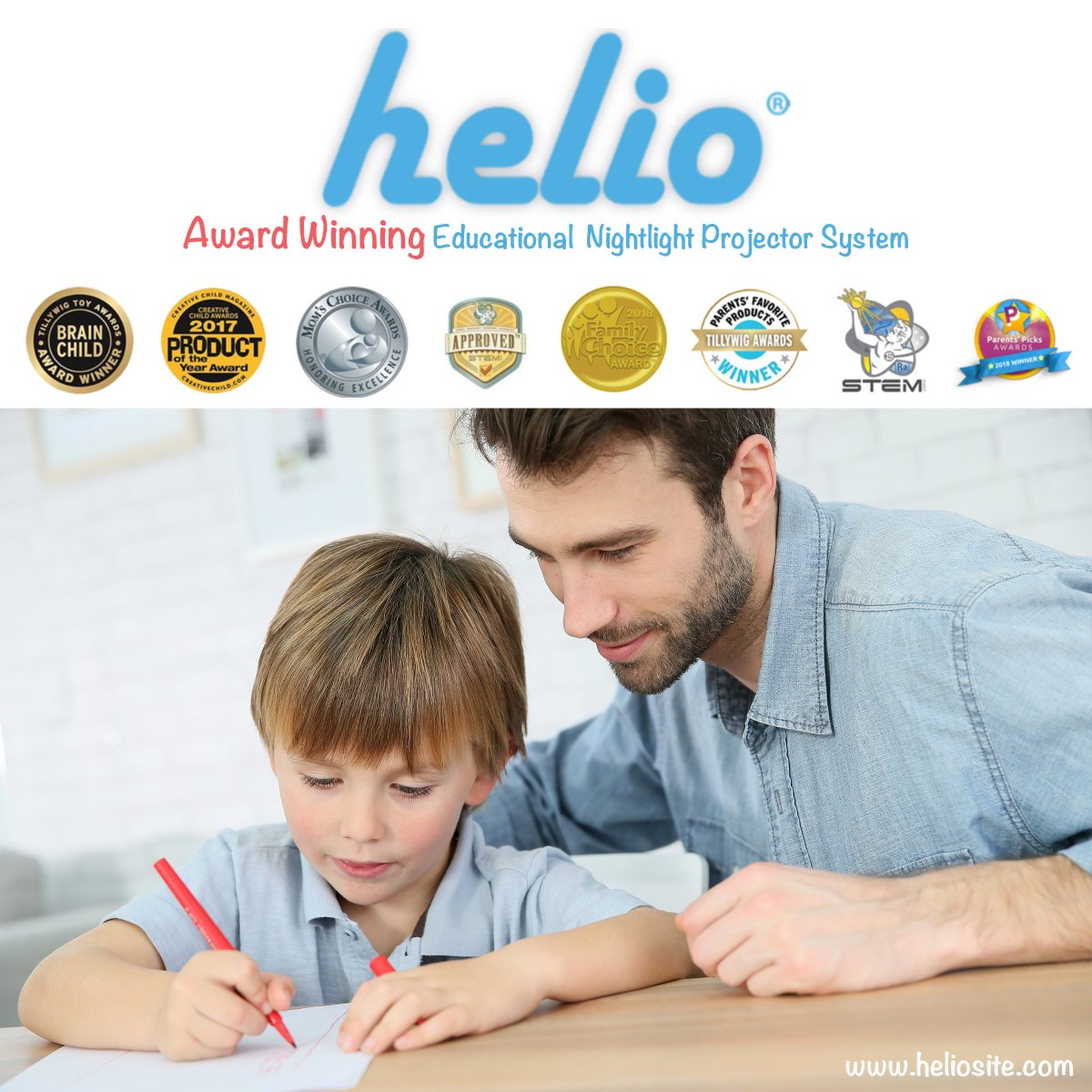 Did You Know that HELIO has Won Numerous Awards? Helio is a certified STEM product and proven to help children learn easily. #stem #stemforkids #ScienceForKids #STEMeducation #stemactivities #montessori #teachersfollowteachers #teachingideas #ihomeschool #amazonfinds