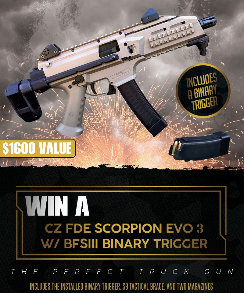 🚨NEW CONTEST ALERT🚨 When one contest closes, another one opens! Or at least that's how we think the saying goes 🤔 In our newest contest, you can win a @czusafirearms Scorpion EVO 3 w/ binary trigger and brace! Head over to our website to enter - https://www.classicfirearms.com/contest/win-a-cz-scorpion-evo3-binary-trigger-contest/…