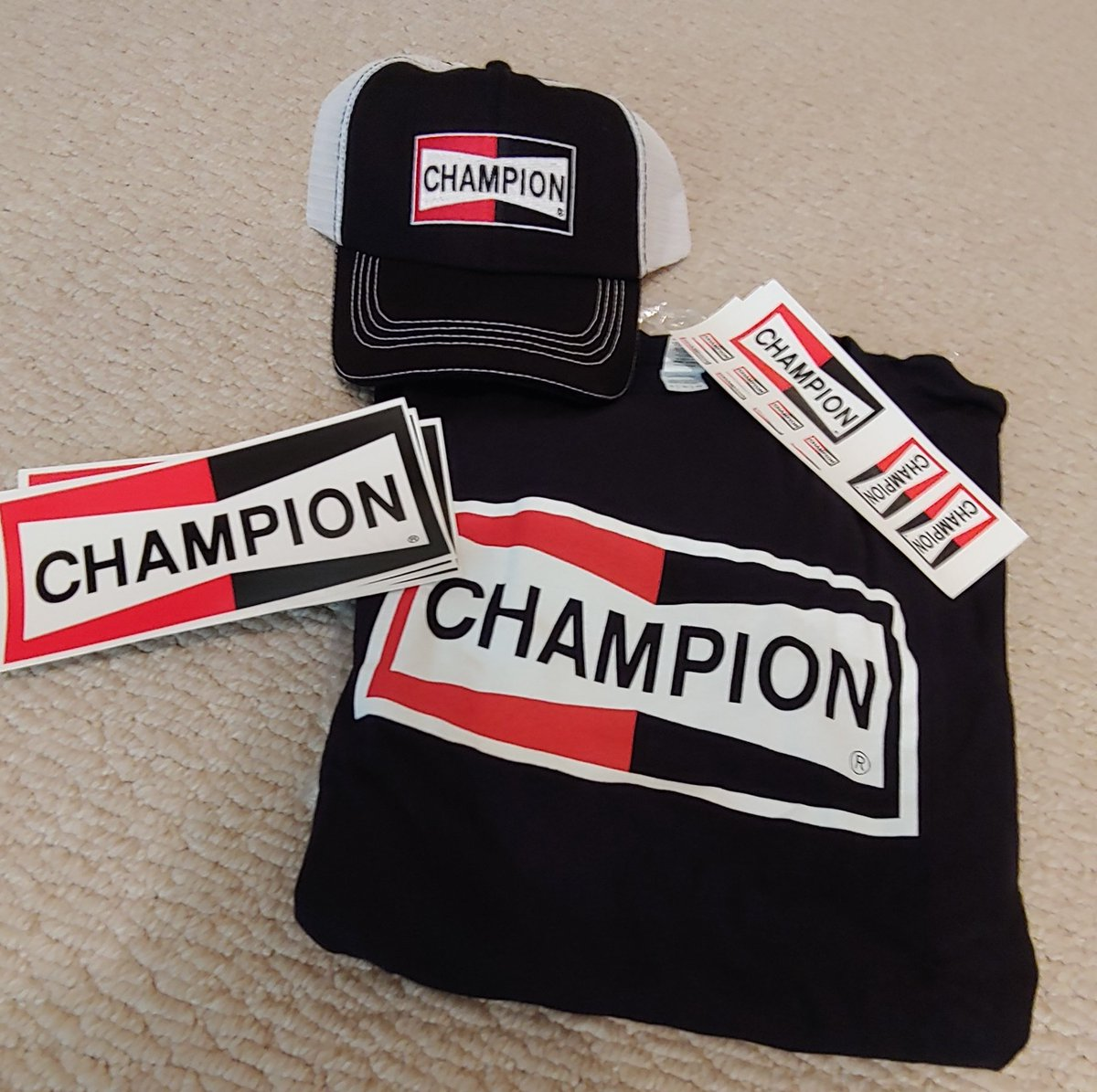 GIVEAWAY!! today's prize..a Champion hat, shirt and decals..how to win? 👇-FOLLOW OUR PAGE-LIKE THIS POST-TAG (1) FRIEND IN THE COMMENTS.one winner chosen from eligible entries tomorrow, Wednesday June 19th 5pm. Good Luck!