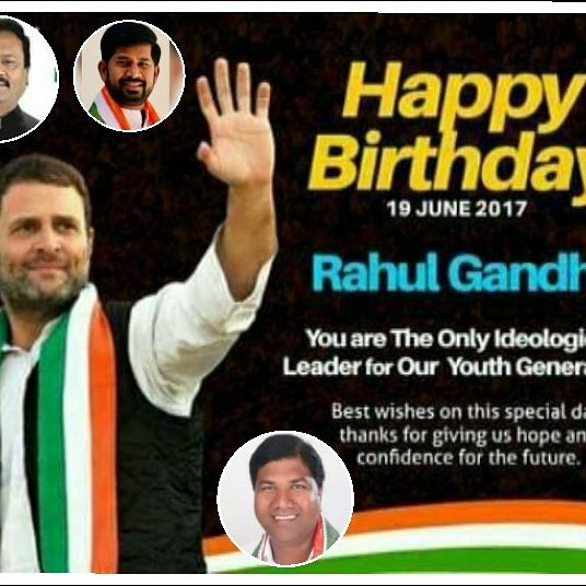 Happy birthday to You AICC President Sri Rahul Gandhi ji Aap Jiyo Hazaro Sal