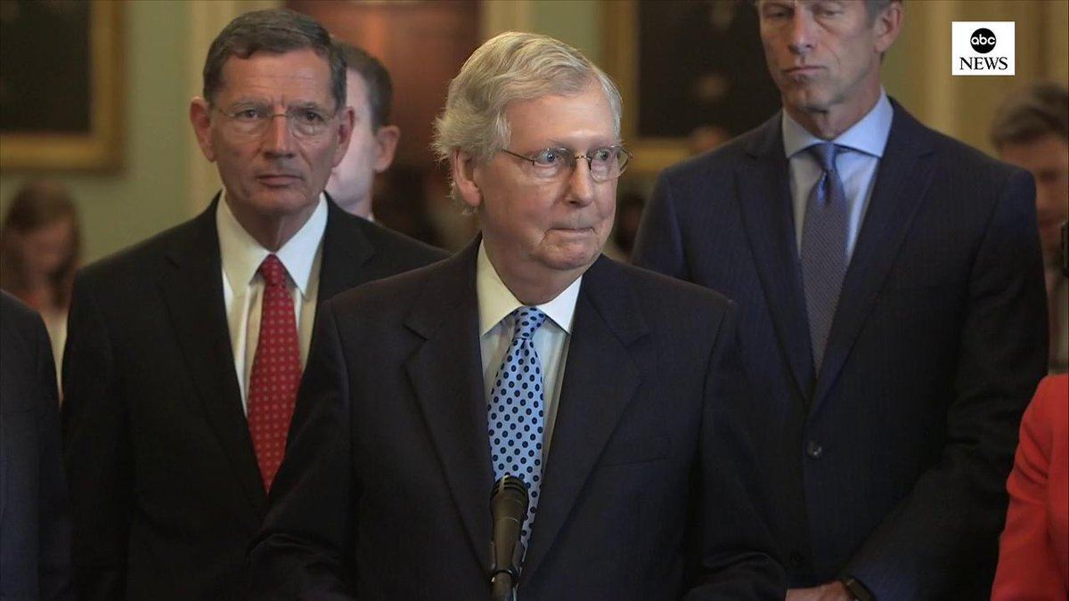 Senate Majority Leader Mitch McConnell says he is against reparations for slavery in part because it would be hard to know whom to pay. No one currently alive was responsible for that. abcn.ws/2XYbve2