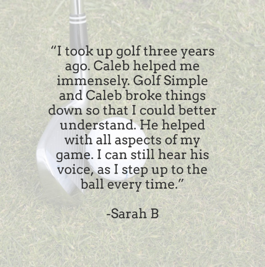 Thank you, Sarah! Our philosophy helps create results and bring the love of golf back to the game!  #golfsimple #golf #golflessons #golfswing