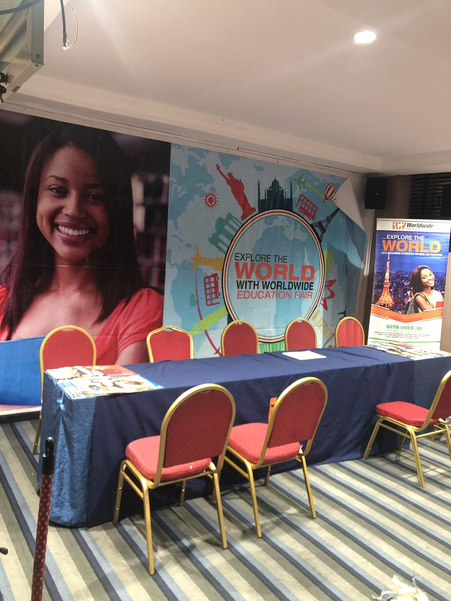 Hello PH, we're setting up for tomorrow!!!!!!! Are we excited? Bet we are!!! and we hope you are too.  Do come down to Golden Tulip hotel, 1C, Evo Crescent, GRA Phase II Port Harcourt.  We look forward to seeing you guys.  #wine #educationfair2019 #educationfair #educationpic.twitter.com/2aU85AcXOU