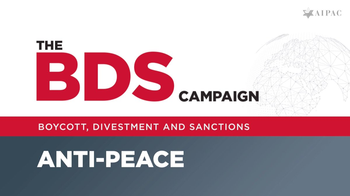 The BDS campaign is anti-peace. Urge your members of Congress to oppose it. p2a.co/Mzth3ER