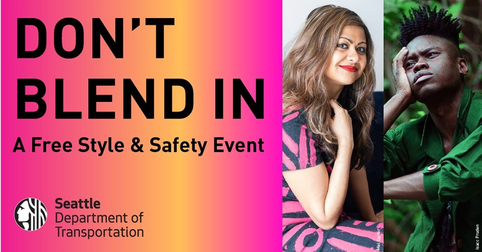 Join us for a FREE Rainier Valley style & safety event w/ Priya Frank & David Rue!  RSVP: http://bit.ly/2ZwWmAM
