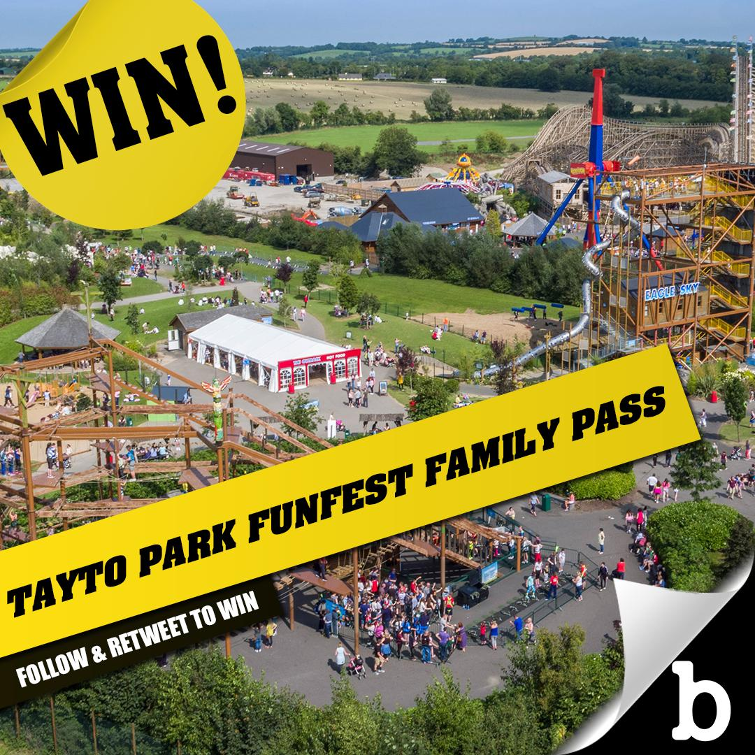 We've got a family pass of 4 for FunFest at @taytopark for a day of your choice worth €220 up for grabs. To enter simply FOLLOW @buzzdotie and RT before midnight Saturday June 22.