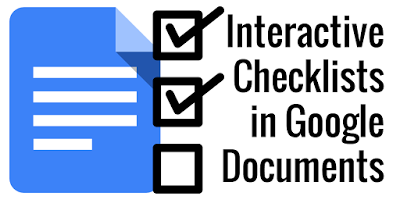 Making Interactive Checklists in Google Docs http://www.controlaltachieve.com/2016/06/docs-checklists.html… #edtech