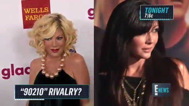 90210 rivalry? Tori Spelling opened up about her rumored feud with Shannen Doherty.