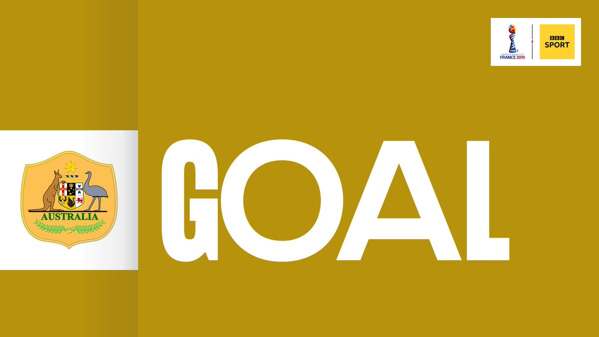 GOAL! Jamaica 1-3 Australia. Who else but Sam Kerr? The ball falls kindly for her off the defender and Kerr expertly finishes from close range for her hat-trick. Terrific individual display from her! Live: https://bbc.in/2Izu41K#JAM #AUS #FIFAWWC