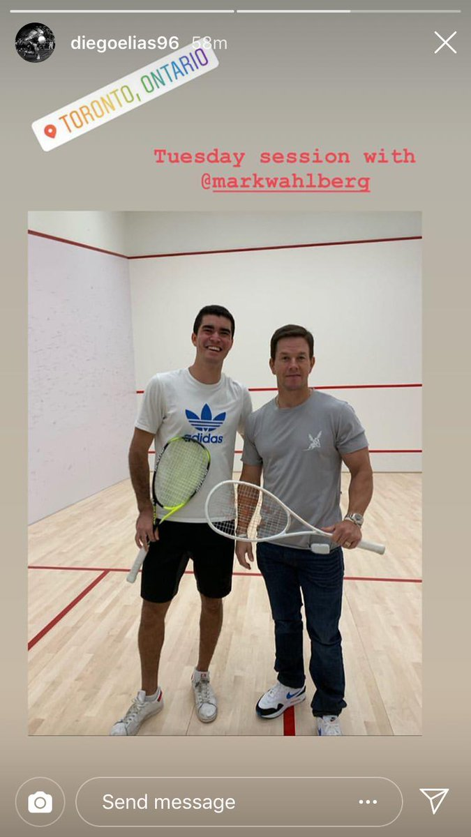 test Twitter Media - When the Peruvian Puma @diegoelias96 met @markwahlberg  👀  Mark, hit us up any time you want to watch world-class #squash at one of our tournaments - the tickets are on us 🙌 https://t.co/kMPkn1VUrm