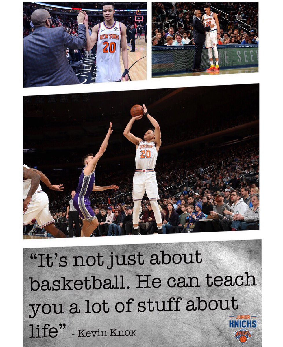 Which one of your coaches inspires you on and off the court? 🙌 #TeachTuesday #JrKnicks