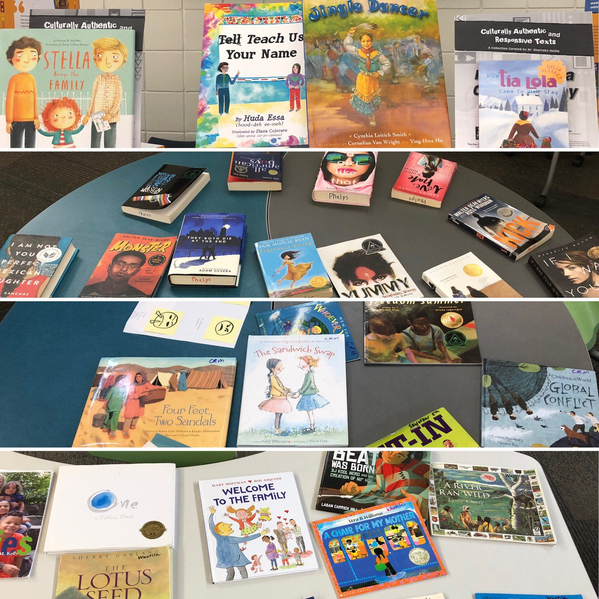 Exploring a wealth of culturally responsive reads at CLR summer institute! #VABBNation2019 #myTCM @ISD833 #CLR2<br>http://pic.twitter.com/MDboiP0Mr5