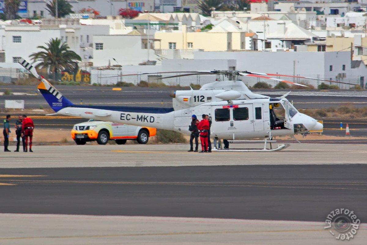 18-06-2019 #ECMKD @FaasaAviacion #MAGRAMA #BellHelicopters #Bell412 at @ACE_Aeropuerto #Lanzarote #planespotting by @ACE_spotter #controladoresACE #avgeek @FundacionENAIRE @ENAIRE