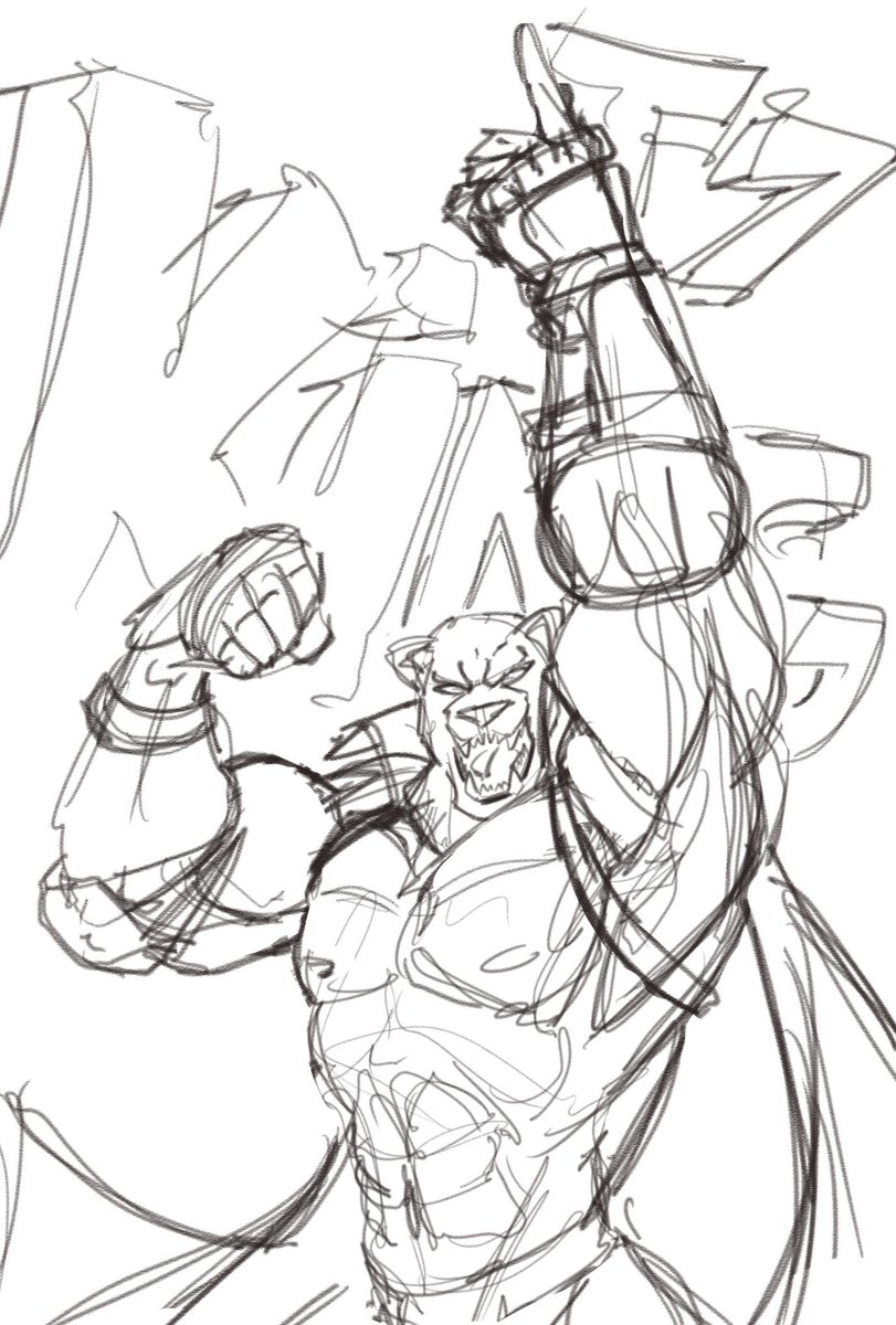 Art With Wasabeh Commissions Open On Twitter Here S A Sketch Of My Favorite Tekken Character King Tekken Tekken7 King Sketch Fanart