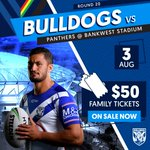 Image for the Tweet beginning: Tickets to the Bulldogs very