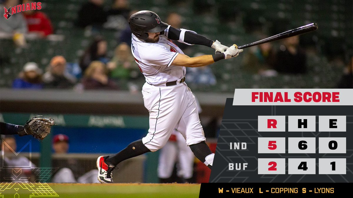 A homer by Will Craig and a gem by Cam Vieaux give the Indians a win in the trips opener! #RollTribe