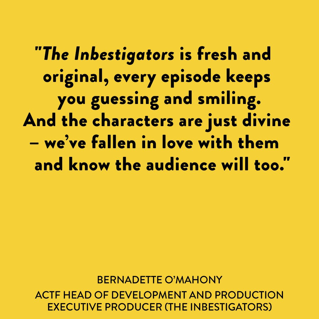 We have a hunch that you'll 💛 upcoming comedy/mystery series #TheInbestigators as much as we do.
