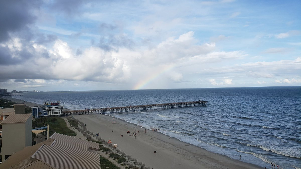 Rainbow this evening over the beach...