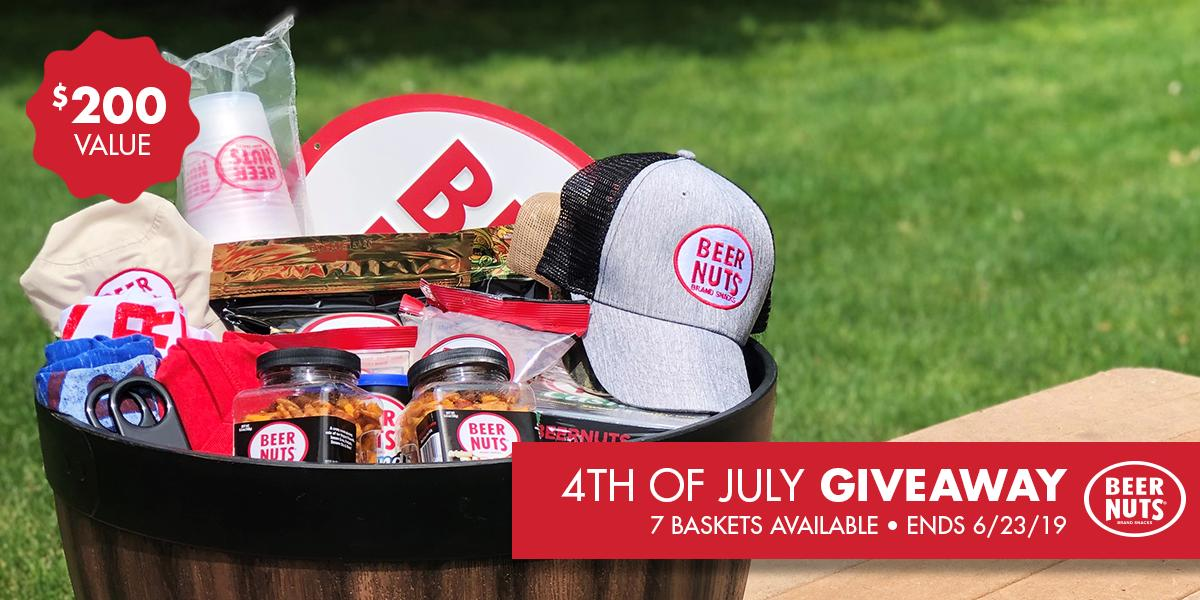 BIGGEST. GIVEAWAY. EVER.  🍻😍🥜  We're hooking up SEVEN people with a Fourth of July basket filled with swag, products, and more for your backyard barbecue ($200 value!) 😱  ENTER HERE: https://gleam.io/KK8h5/fourth-of-july-basket-giveaway…  Ends 6/23/19 at 11:59PM CST. No purchase necessary. 21+ to enter.