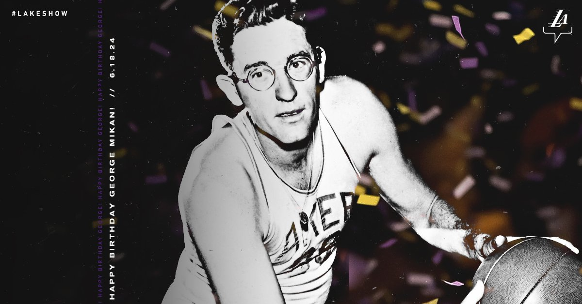 Happy birthday to the NBA's first superstar: The late, great George Mikan!  <br>http://pic.twitter.com/JcIDiY8E9X
