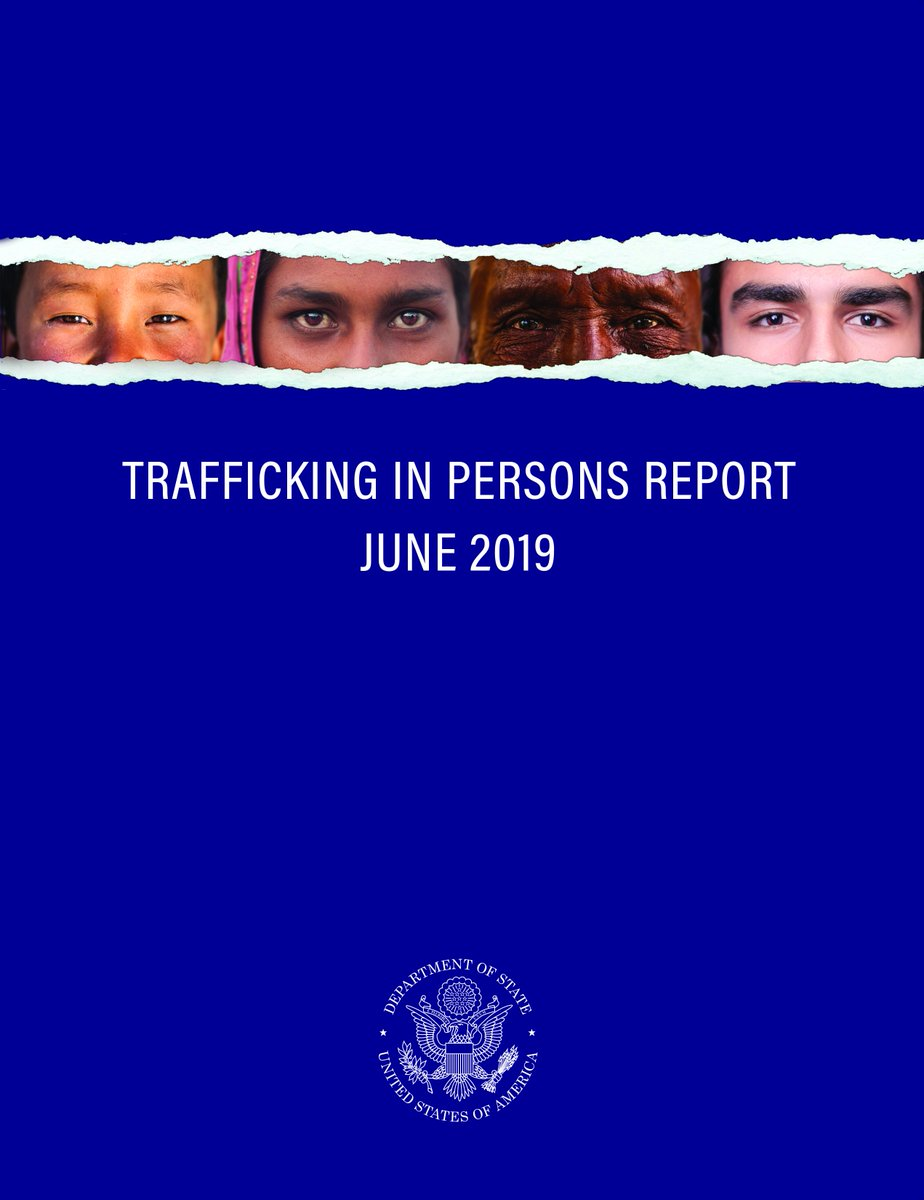 On June 20, @SecPompeo will unveil the 2019 Trafficking in Persons (TIP) report with Advisor @IvankaTrump and honor men and women from around the globe whose tireless efforts have made a lasting impact on the fight against modern slavery. https://go.usa.gov/xy394