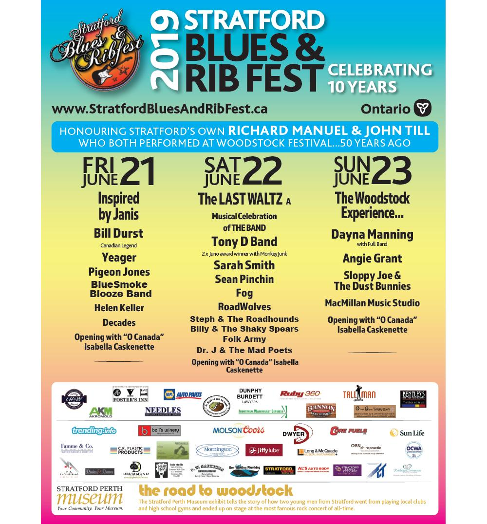 """As part of the """"Hog Wild Week"""" in #StratfordON, plan to attend 10th year of the Stratford Blues & Ribfest June 21-23!  More details can be found at http://www.stratfordbluesandribfest.ca  #BluesFest = #GoodMusic  #RibFest = #GoodFood  #GoodFriends = #GoodTimes"""