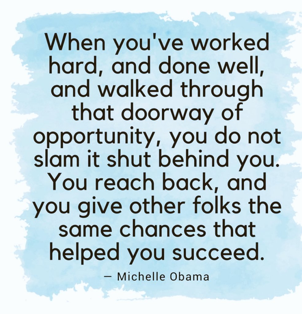 This I firmly believe and try my utmost to live by #notthruthedooryet #reachback #payitforward <br>http://pic.twitter.com/kzKHjHV3qU