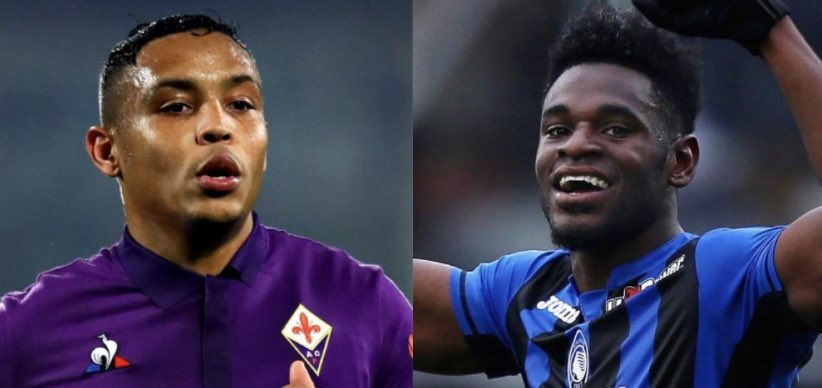 Duvan Zapata and Luís Muriel up front together next season for Atalanta in the Champions League.