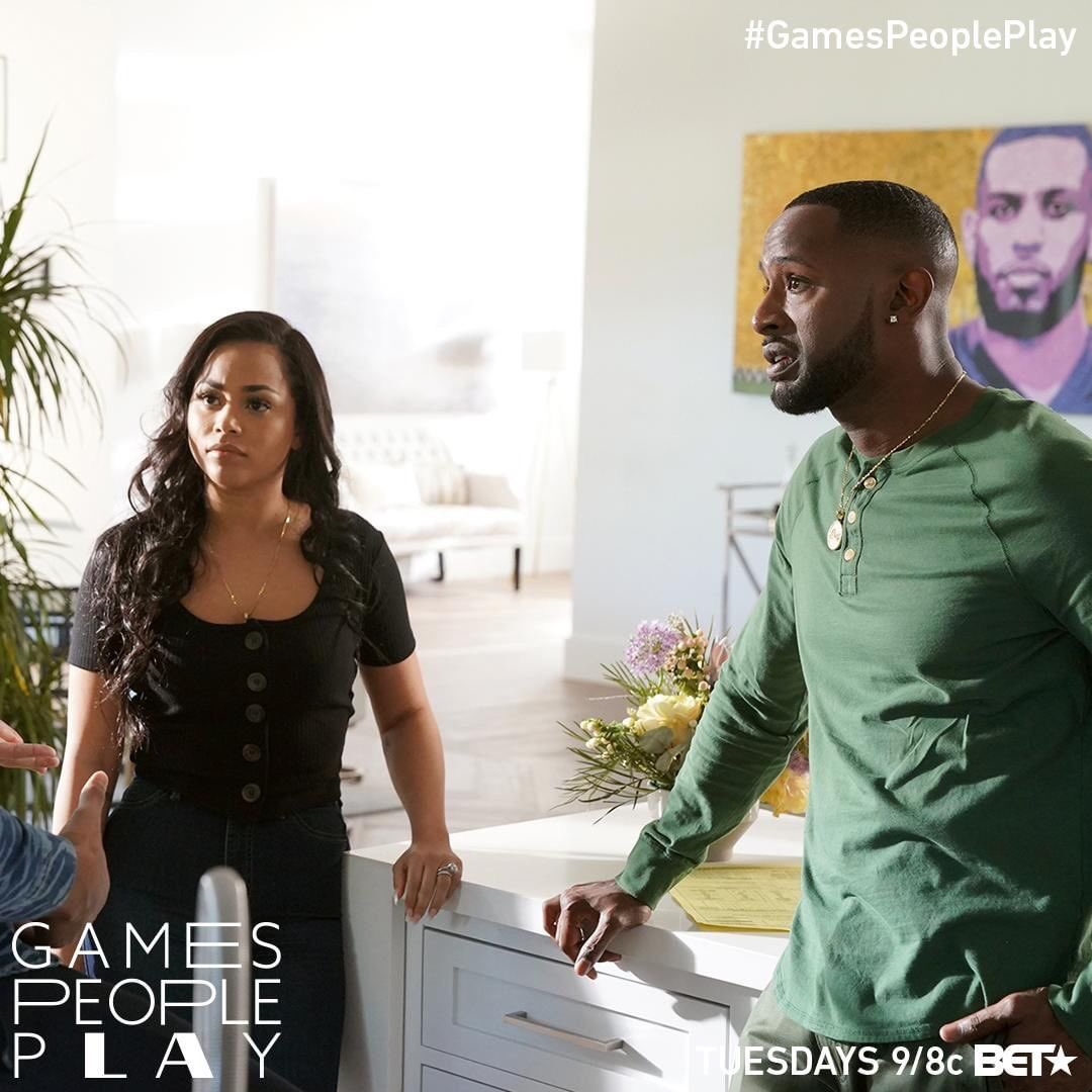 Huge plot twist tonight. #GamesPeoplePlay is back on at 9/8c on @BET. Don't forget to tune in and support our girl  @LaurenLondon ✊🏾🏁 #TMC