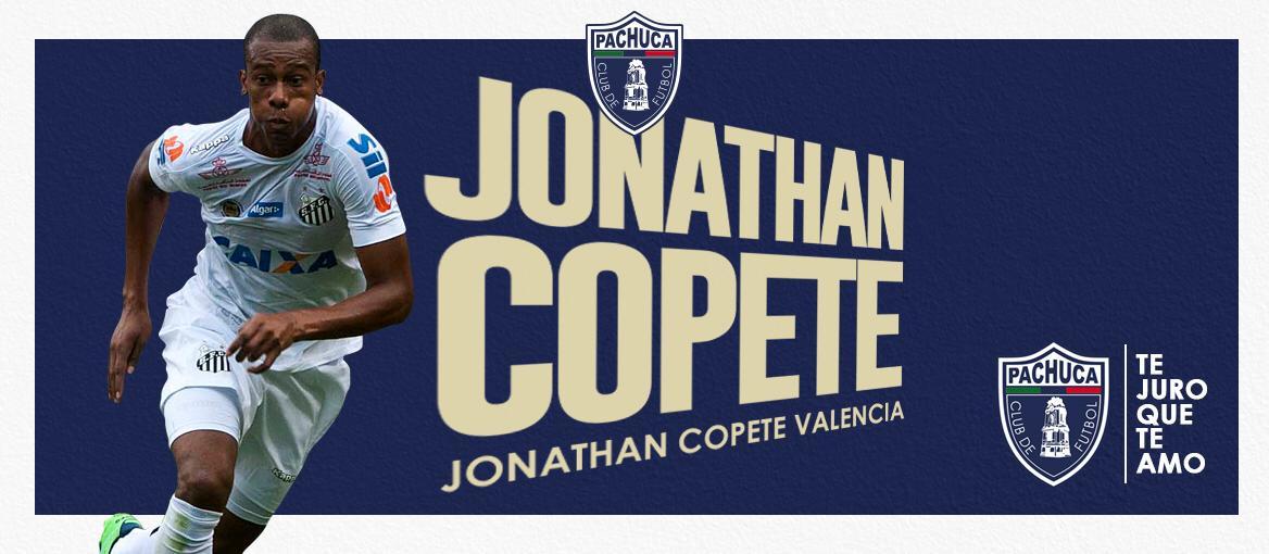 Jonathan Copete se suma al equipo de Martín Palermo. Una apuesta más de experiencia para el Pachuca, esta en el ataque. A sus 31 años, su mejor época como velocista mutó a delantero centro donde jugó en su último torneo con Santos. Uno más que ya veremos cómo responde al tiempo.