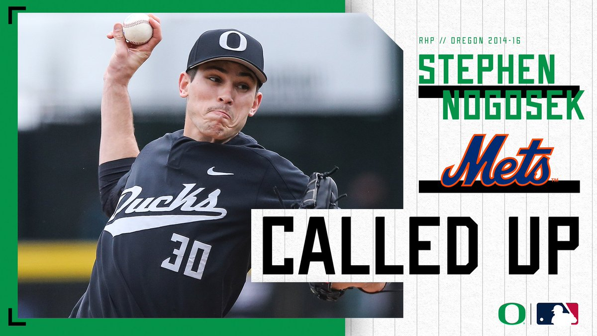 Congratulations NoGo! @StephenNogosek gets the call to join the @Mets. He becomes the fifth Duck player currently on a @MLB roster and the sixth overall this season. #GoDucks #ProDucks