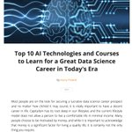 Image for the Tweet beginning: Top 10 #AI Courses to