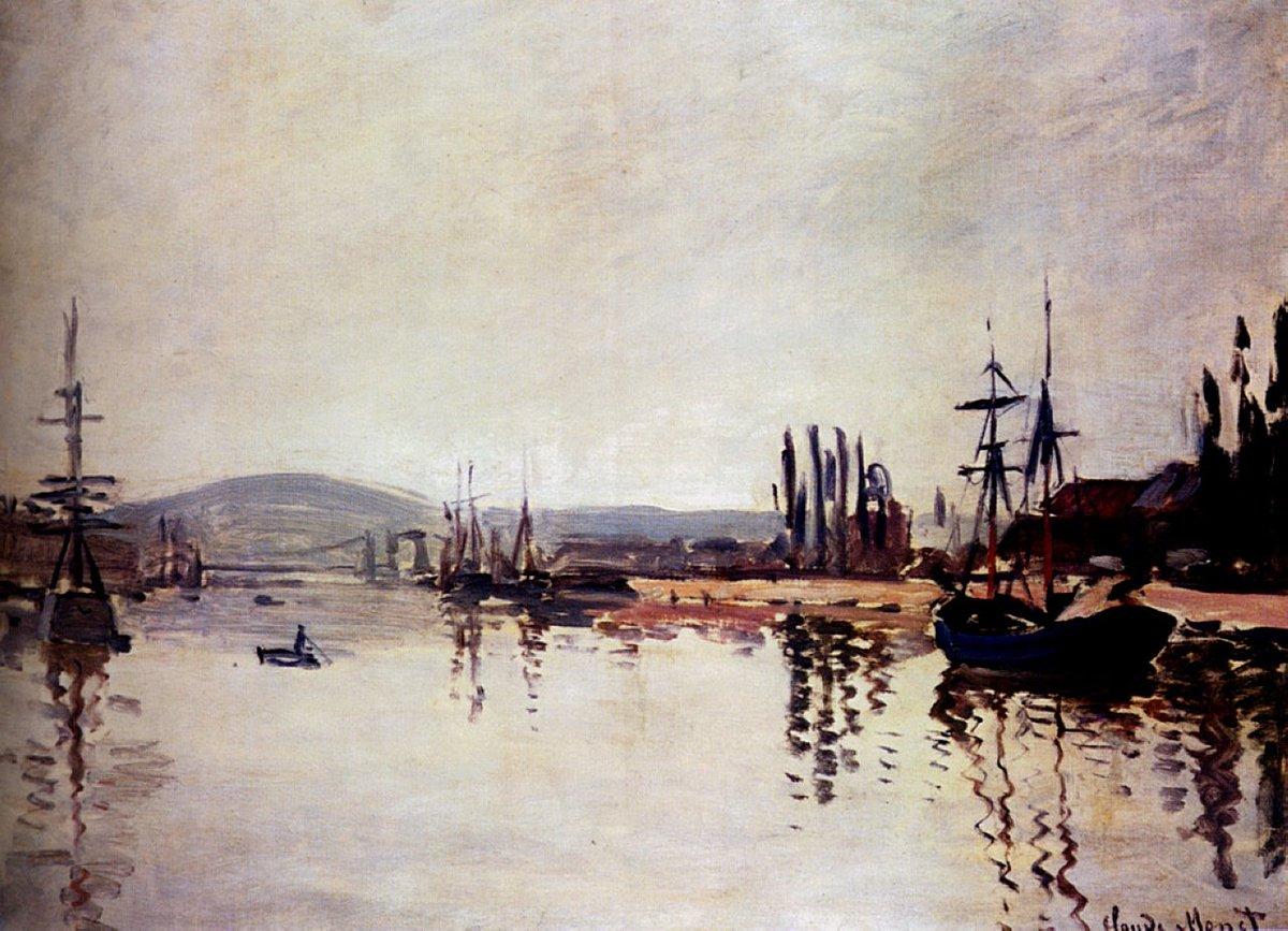 The Seine Below Rouen, 1872 #impressionism #frenchart<br>http://pic.twitter.com/5lYhvQsMfY