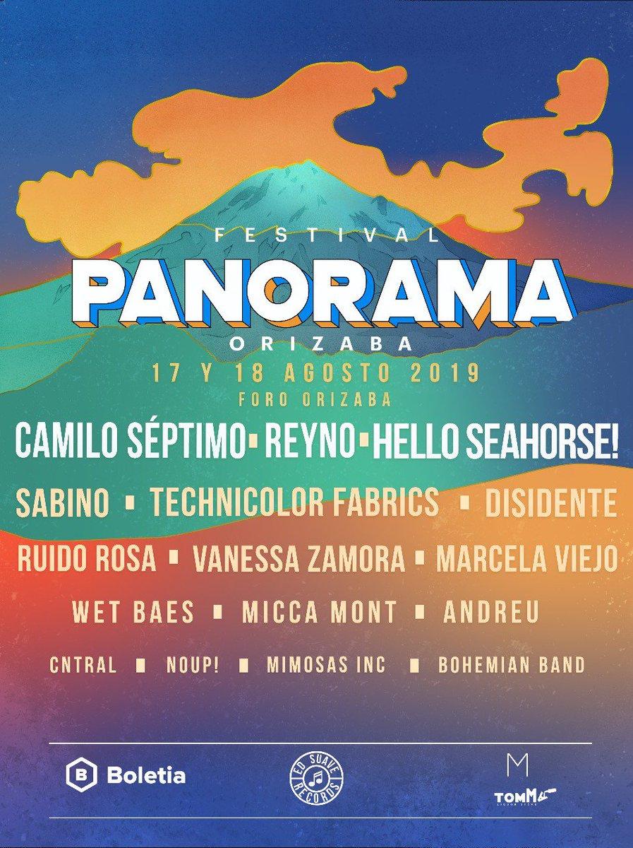 Conoce el cartel completo del #FestivalPanorama que el 17 y 18 de agosto llevará a #Orizaba una gran selección de talento independiente mexicano: https://t.co/nSGciBKudG https://t.co/B1LQP7uqTL
