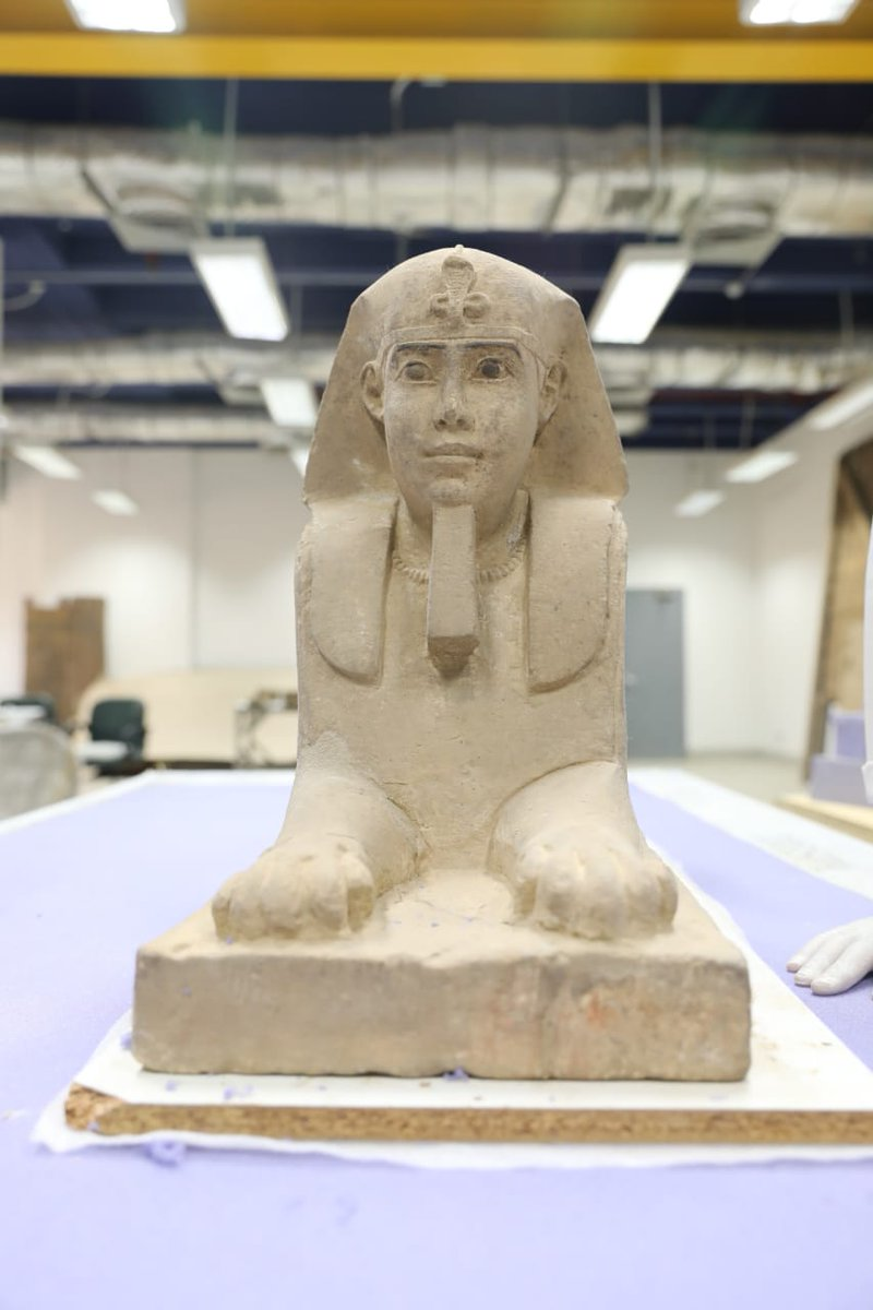 Ministry Of Tourism And Antiquities On Twitter Statues Of Kings Amenenhat Iii Tuthmosis Iii A Sphinx Statue To Be Put On Display At The National Museum Of Egyptian Civilization In
