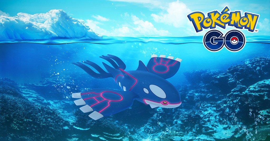June 18. Kyogre. Mark your calendars, Trainers—the Sea Basin Pokémon is returning to #PokemonGO raids! bit.ly/2Rk6KJm