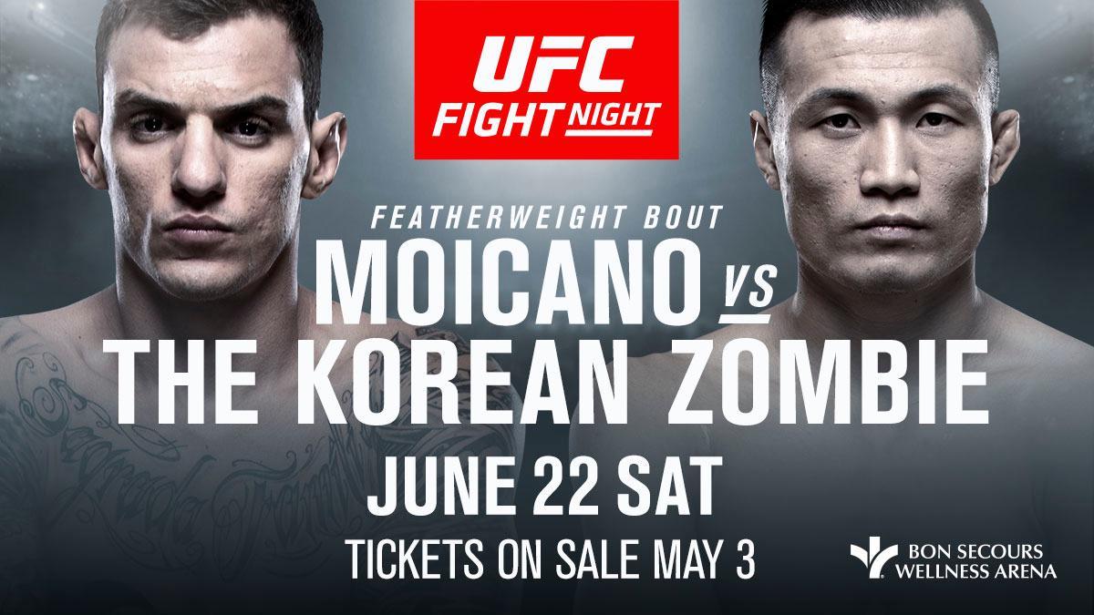 Current Fight Card For UFC Fight Night: Moicano-Korean Zombie - https://www.themix.net/2019/06/current-fight-card-for-ufc-fight-night-moicano-korean-zombie/… #ChanSungJung #KoreanZombie #RenatoMoicano #UfcFightNight154