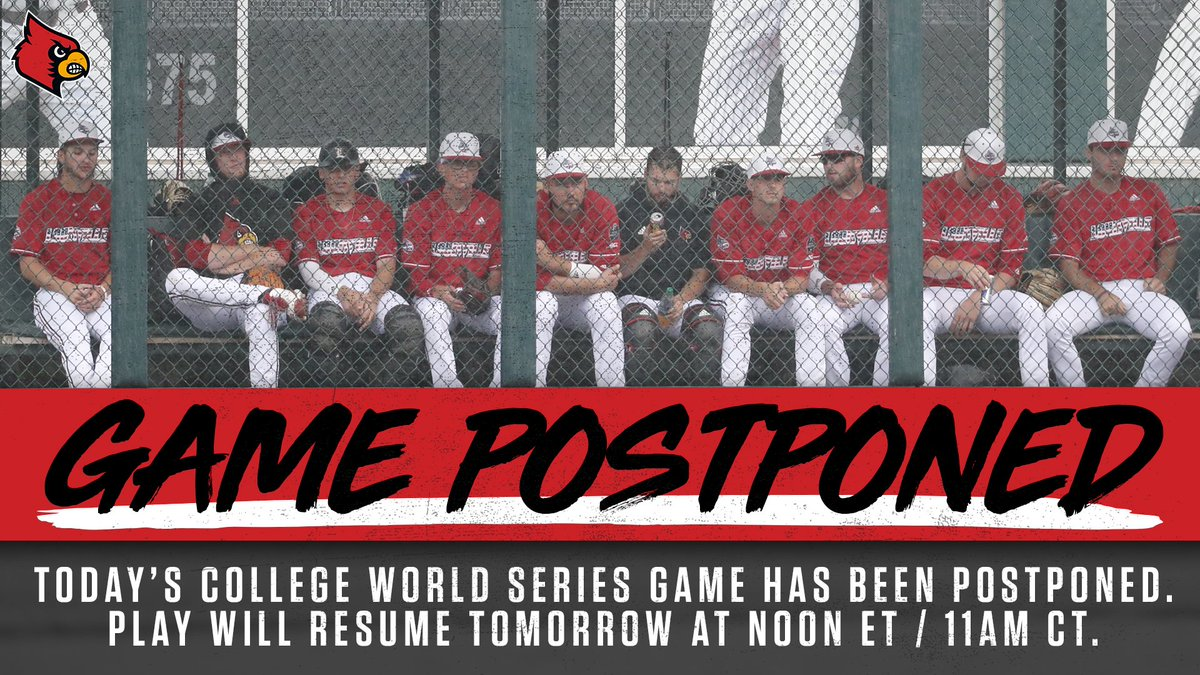 🚨 SCHEDULE UPDATE 🚨  Today's game has been postponed and will resume tomorrow at Noon ET / 11AM CT.  #CWS | #L1C4 https://t.co/riDZ7bGiAM