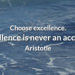 """Image for the Tweet beginning: Choose excellence. """"Excellence is never"""