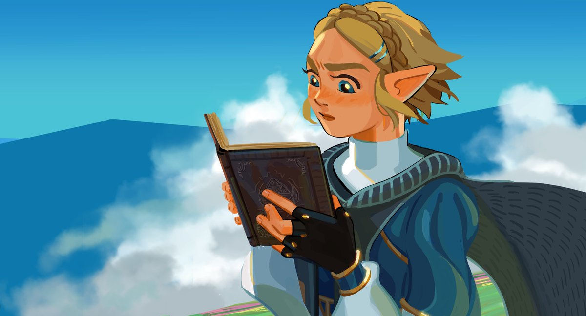 couldn't stop thinking about all the zelda content we'll see in the game!! i want to see her reading books and cataloguing insects and doing all kinds of things for the sake of science#botw<br>http://pic.twitter.com/ok4UA4Fqgt