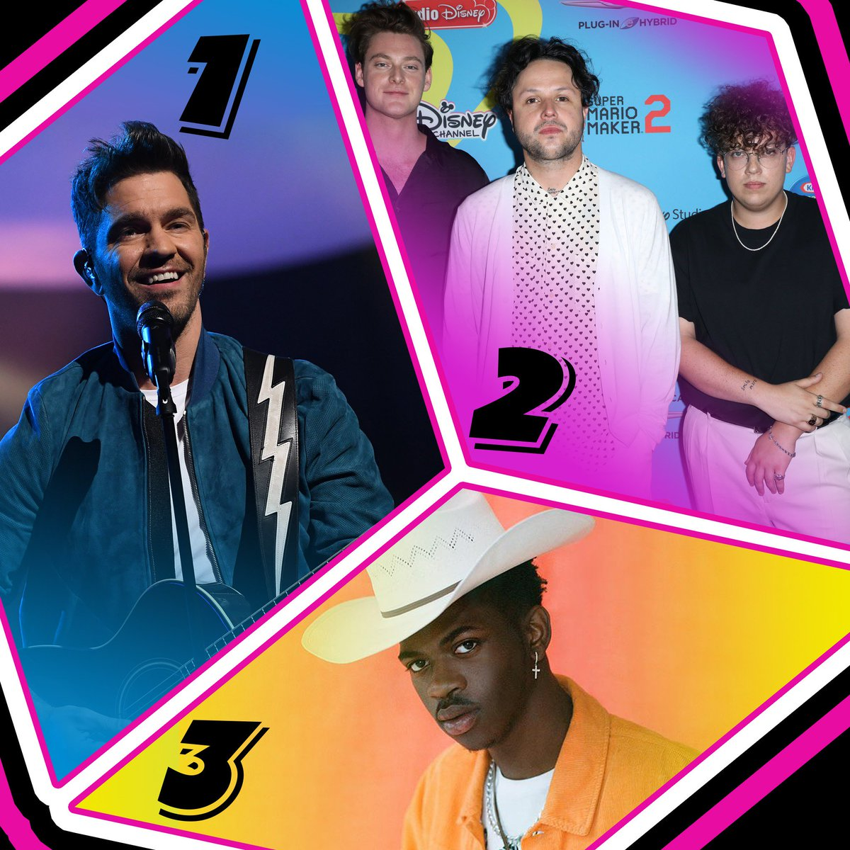Heres Tuesdays #RDTop3! 1. @AndyGrammer #DontGiveUpOnMe 2. @lovelytheband #TheseAreMyFriends 3. @LilNasX #OldTownRoad