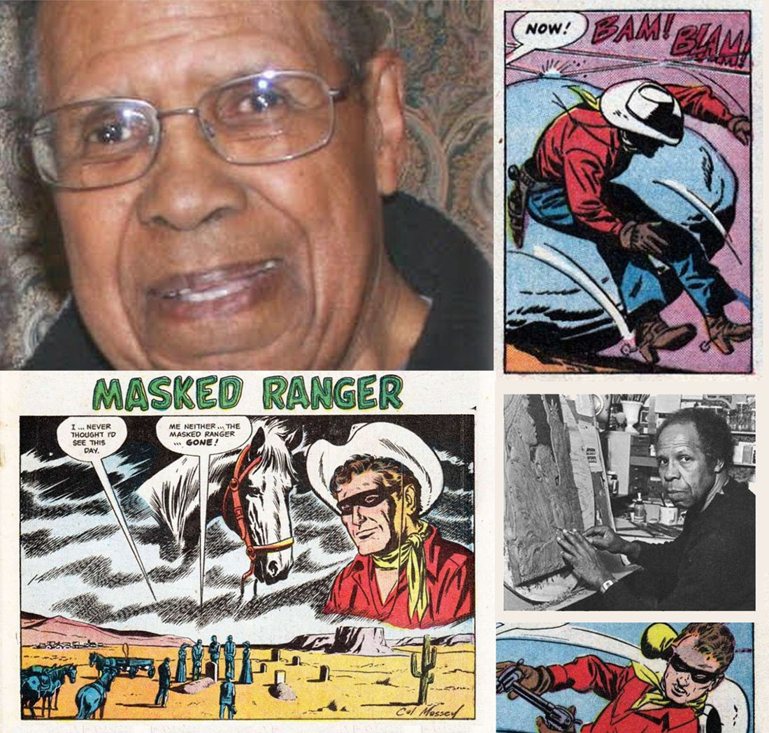 "#RIP Calvin ""Cal"" Massey (Feb 10, 1926 - June 10, 2019) Cal Massey worked for a number of comic book publishers in the late-1940's to mid-1950's, including Lev Gleason, and Atlas (before it was  known as Marvel Comics), drawing Western, Horror, Suspense, Crime, and War titles. <br>http://pic.twitter.com/RnXazj99CR"