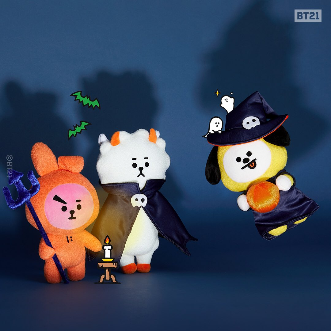 Boo! In June?! #Halloween woke up early from all that coffin! #BT21 creepin' it real! Don't trick, but treat yourself with sweet and faboolous BT21. #Pre_order and get 10% off! Visit now > lin.ee/3r4V3ly #OnlyFor7Days #LINEFRIENDSCOLLECTION