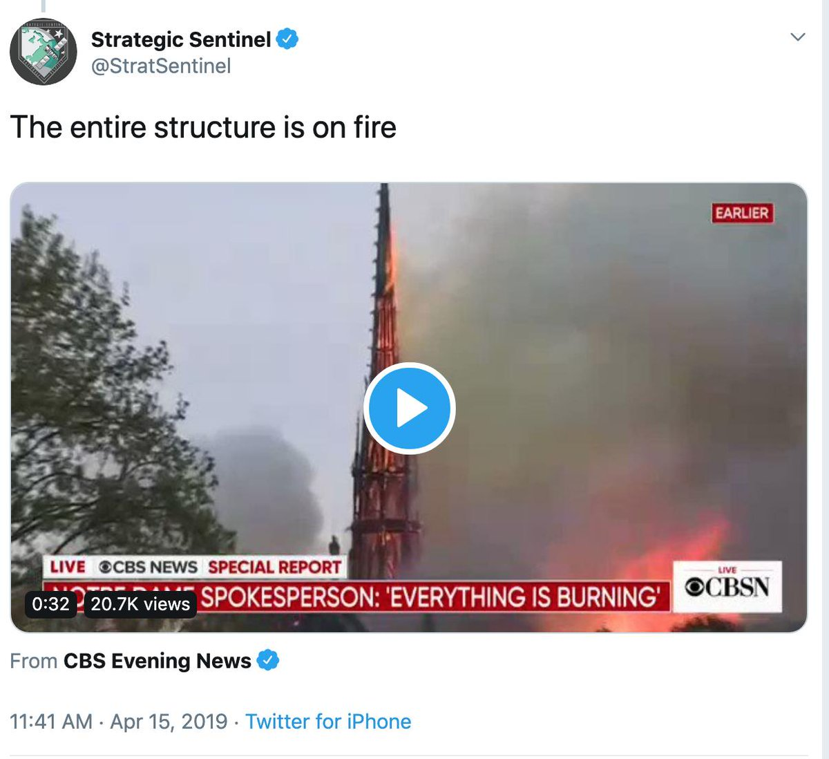 Bizarrely, the specific tweets listed in the warnings Twitter sent out had nothing to do with India or Pakistan. One was a video of the Notre-Dame fire. Two were direct quotes from Secretary of State Mike Pompeo, who was talking about Iran.