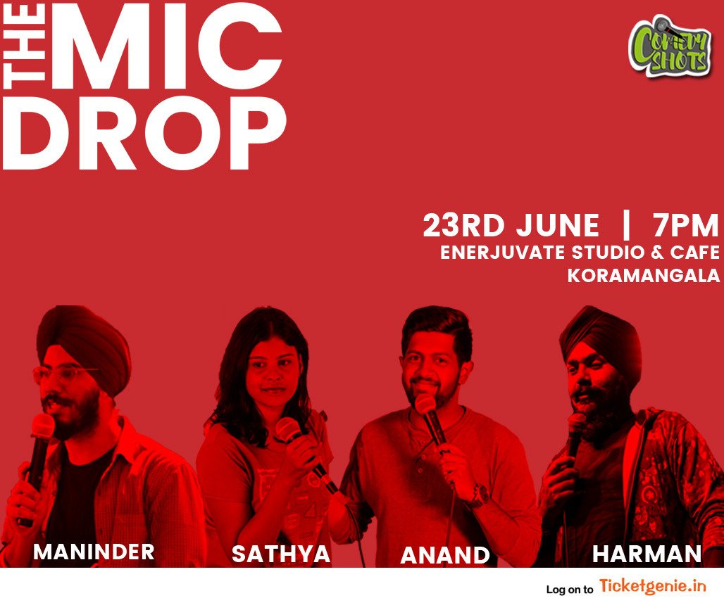 The best kind of pain is when you #laugh till your stomach hurts! join us on the 22nd and 23rd of this month to experience a night of laughter and escape reality for a few hours. Book your tickets: https://bit.ly/2EKMePs  #BLR #WeekendVibes #Comedy #StandupComedy