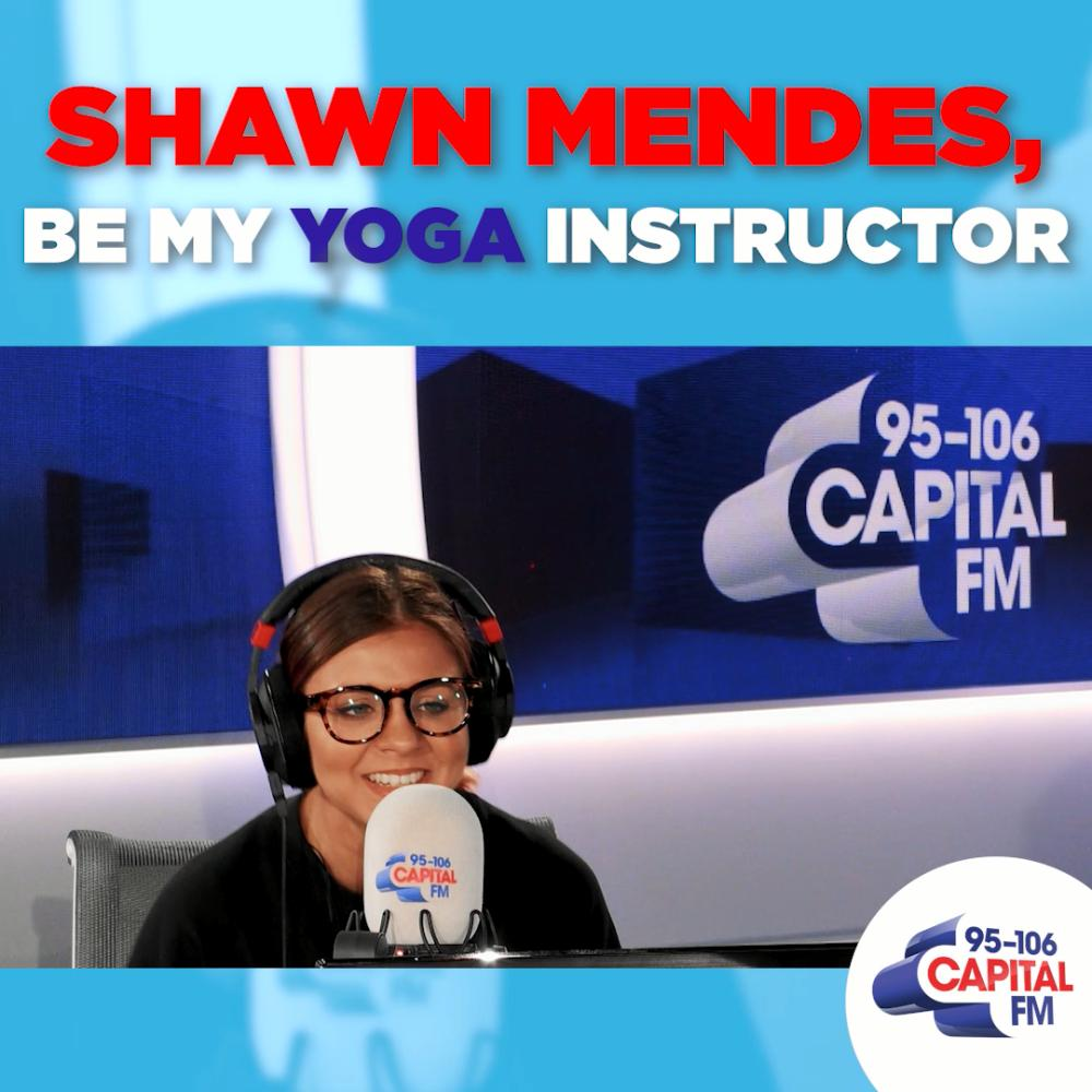 Teach me how to do the Downward Facing Dog, @ShawnMendes. ✌️