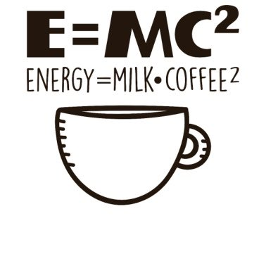 WEDNESDAY MORNING MOTIVATION! ☕️ E = MC2  #humpday #energy #motivation #AlbertEinsteinquote #CoffeeLover