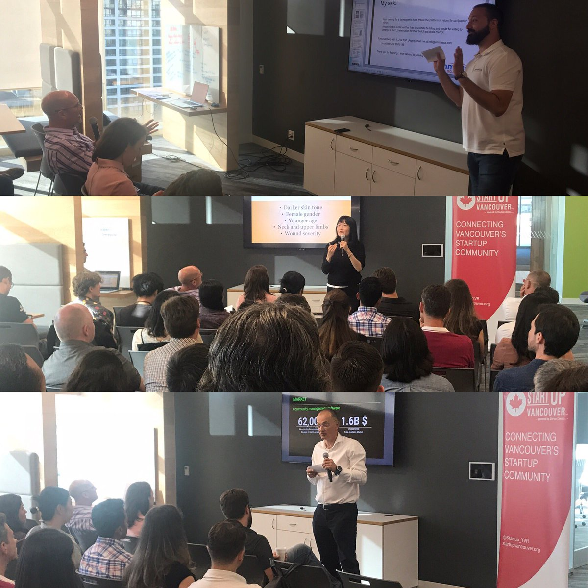We are off and running with our first three dynamic and diverse @thisisvolition #pitchnight presenters at @wegalvanize. #startupbusinessess #startuplife #entrepreneurlifestyle