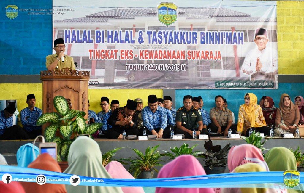 Halalbilhalal Tasyakkur Binni'mah bersama masyarakat Eks. Kewadanaan Sukaraja .  Senin, (17/06/2019). .