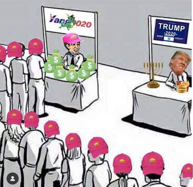 Can someone explain the #YangGang2020 meme to me? I don't understand.